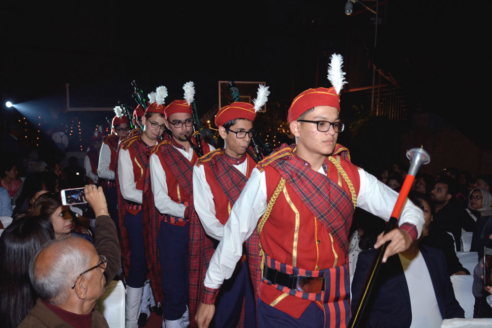 COMMENCEMENT OF ANNUAL DAY WITH THE LIVE PERFORMANCE OF SCHOOL BAND