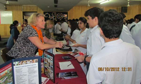 Students visiting career fair organized at AIS
