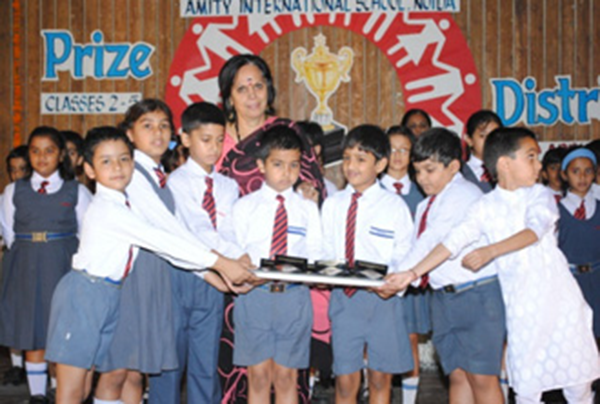 Students receiving Prizes during prize distribution ceremonies